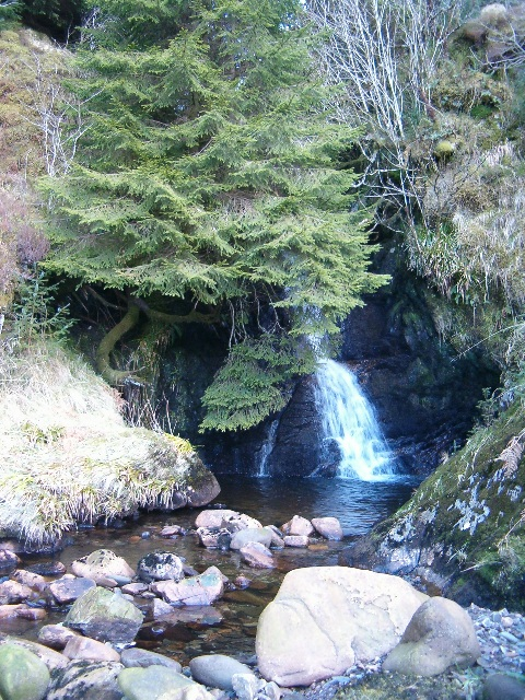 Waterfall on Allt nam Muc