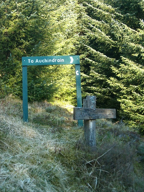 Old and new signposts for Auchindrain