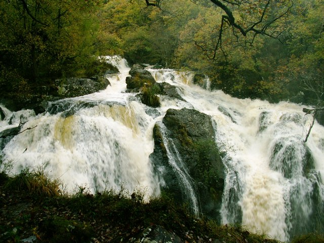 Waterfall at Cwm Camlan