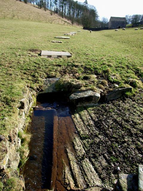 Culverted stream near Airton