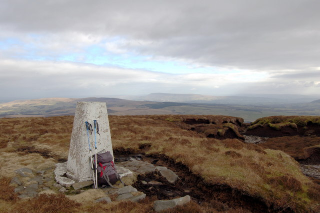 Trig Point on Totridge with Pendle in the distance