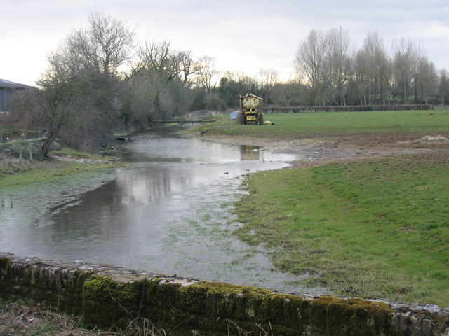 The Thames at Ewen, looking upstream