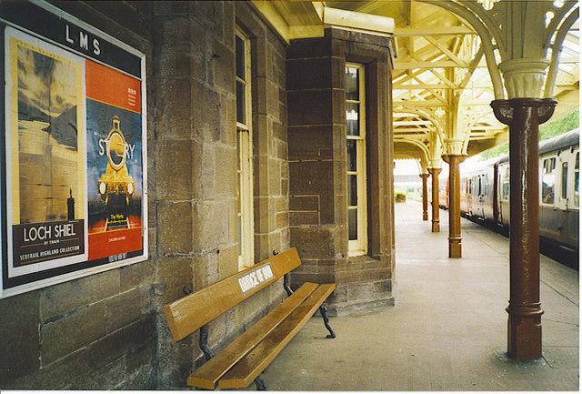 Platform at Bridge of Dun Station.