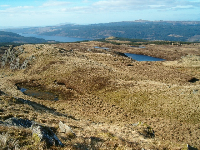 Looking north-west from Tom an t-Seallaidh