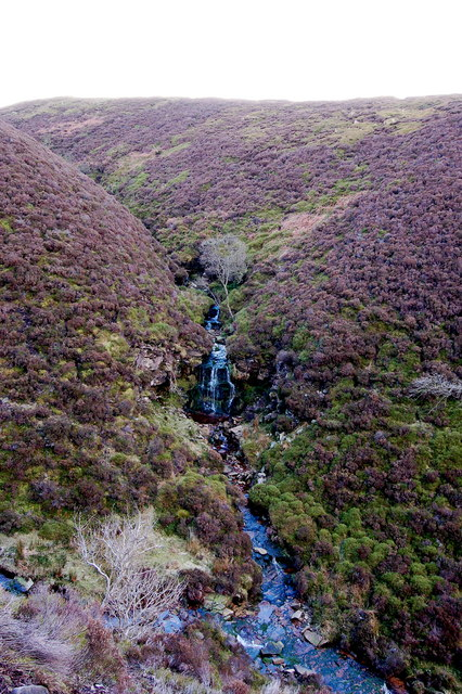 Waterfall in Brown Berry Clough