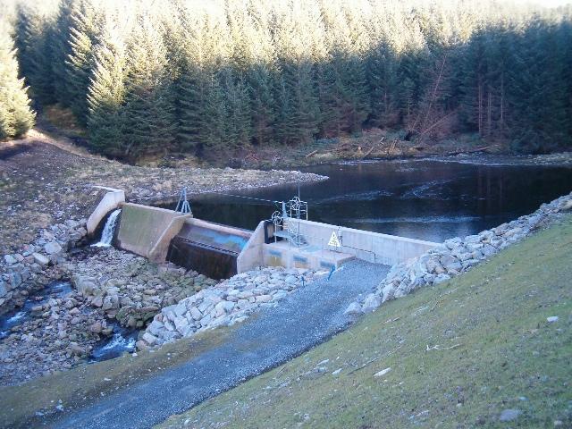 New dam on Abhainn a Bheallaich