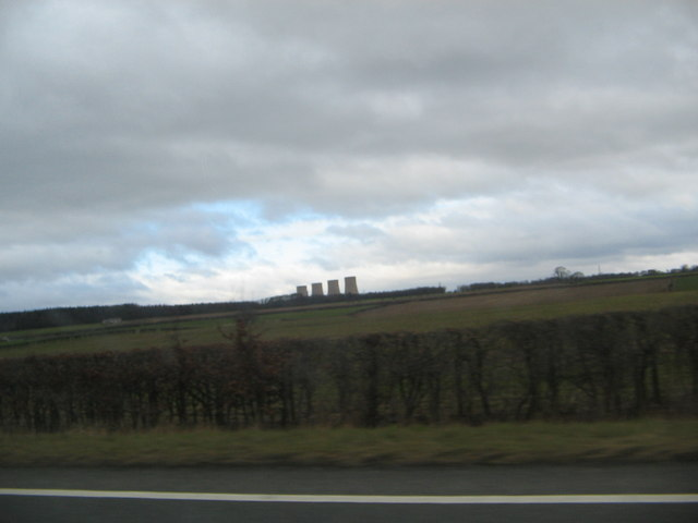 Chapelcross Nuclear Power Station - View from the A75