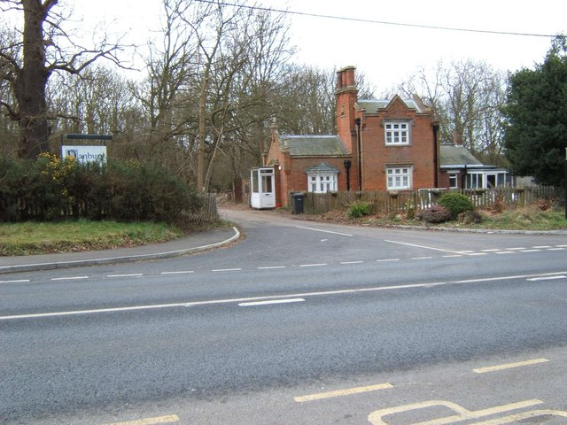 Drive and gatehouse to Danbury Palace