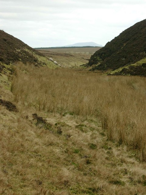 Deep valley of the Blaeberry Burn