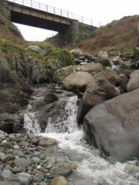 Last few metres of Afon Caletwr