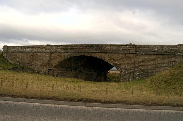 Disused railway bridge on the A926.