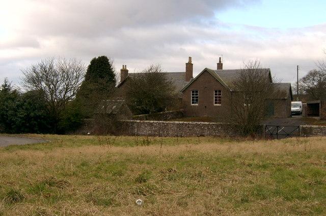 Old Primary School and School House at Redford, between Forfar and Kirriemuir.