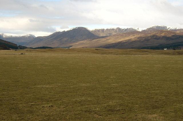 Rough grazing looking north along floor of Glen Clova.
