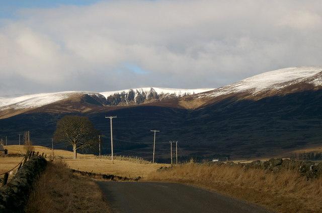 Road up Glen Clova.