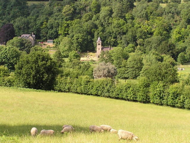 View across to Welsh Bicknor Church