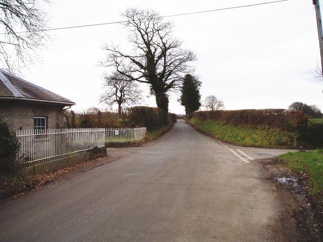 Crossroads near Bathafarn Hall