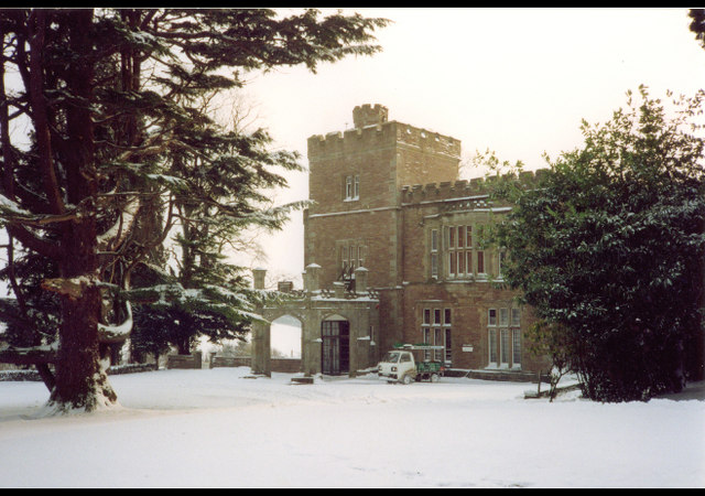 Puddleston Court in the snow