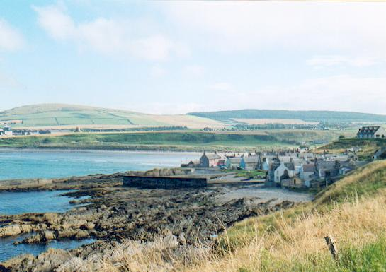 Sandend from the coast path