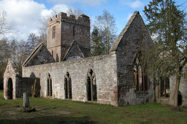 Ruined church at Llanwarne