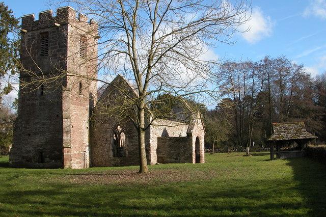Ruined church at Llanwarne