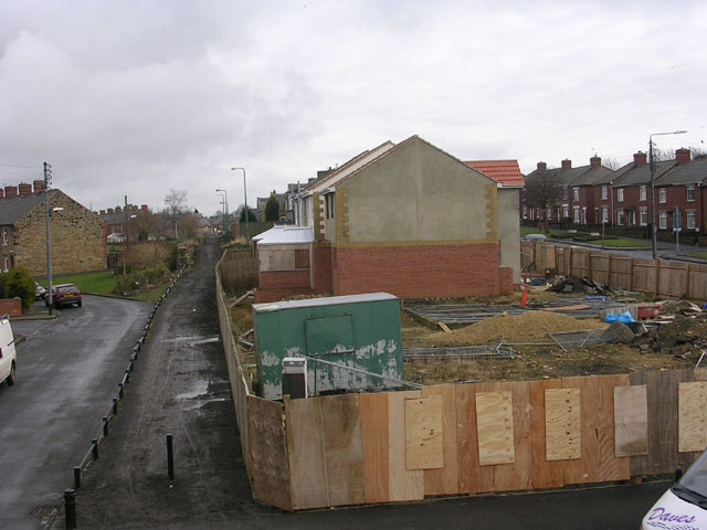 Shoddy new housing at Leadgate