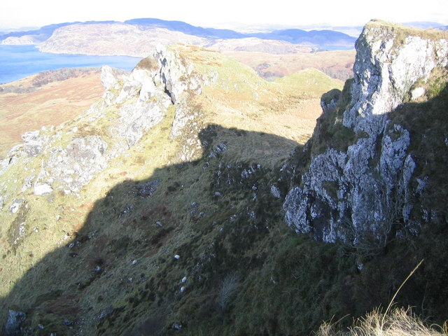Cliffs at Beinn Mor