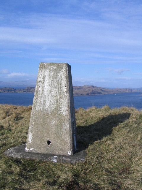 trig point on Beinn Mor