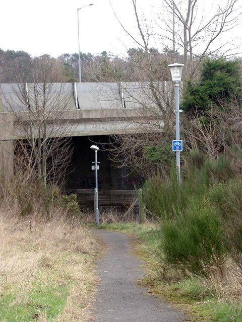 Underpass beneath the A78