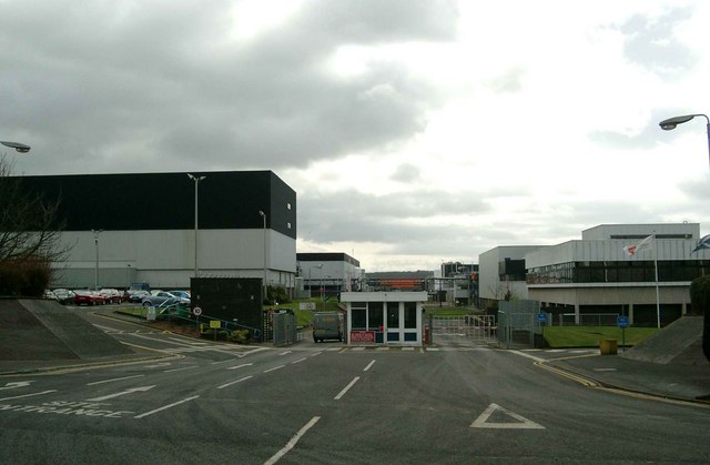 Entrance to GlaxoSmithKline pharmaceutical plant
