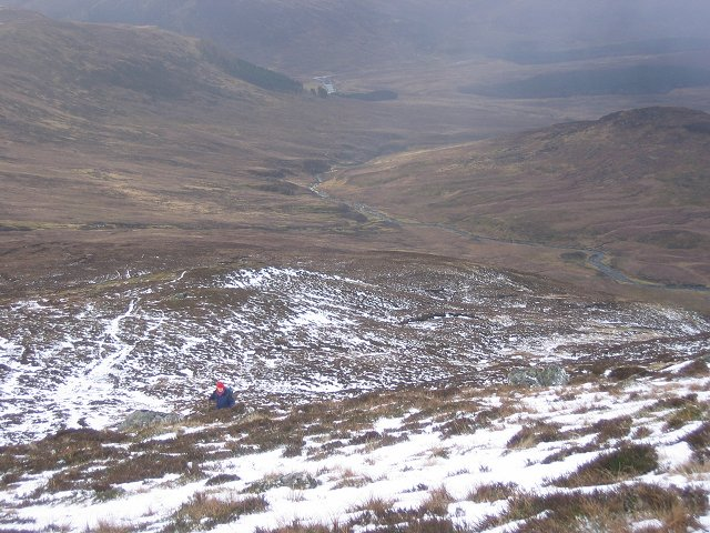 Southwest ridge, Geal Charn