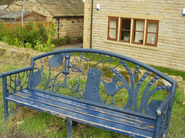 Canalside bench, Calverley Bridge