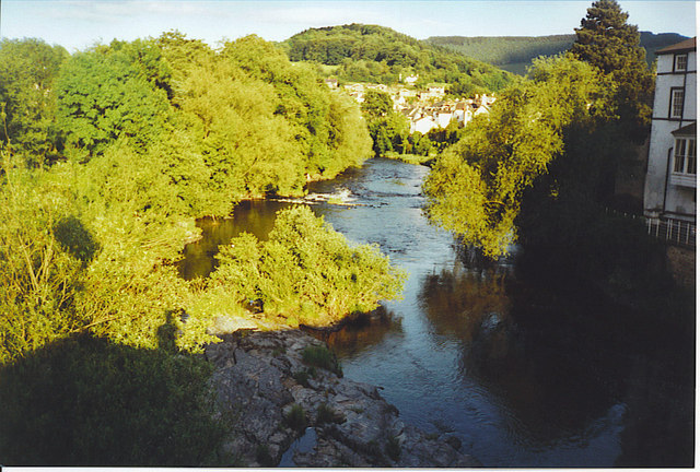 Looking East from Llangollen Bridge.