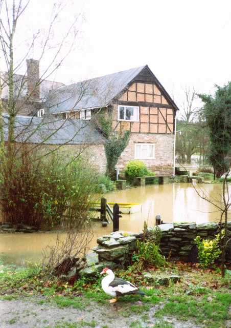 Flood water at Ford Farm