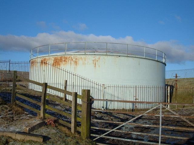Water Storage Tank above Weir, Rossendale