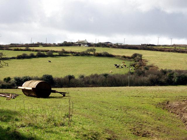 Fields near Castle an Dinas