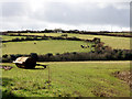 SW4934 : Fields near Castle an Dinas by Sheila Russell