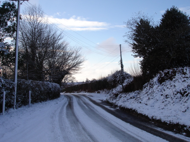Snowy Road Hooe East Sussex
