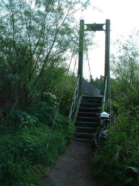 Footbridge over the River Carron
