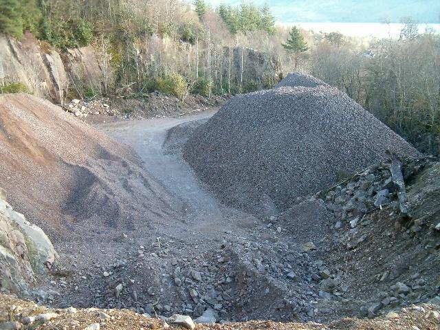 Quarry on the Duke of Argyll's estate