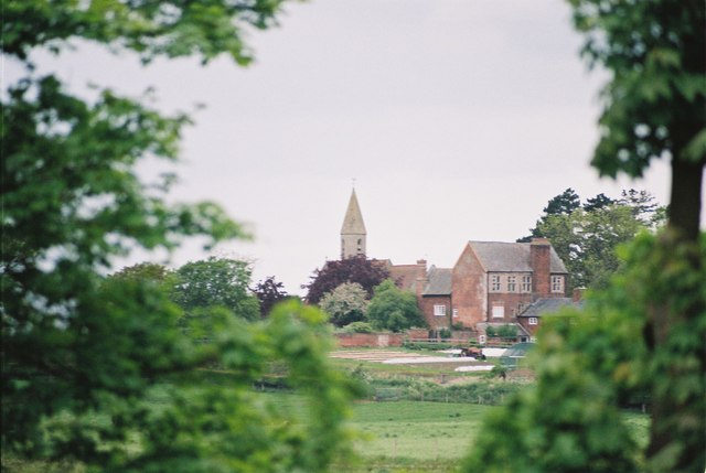 a View of Bettisfield Hall Farm and Church