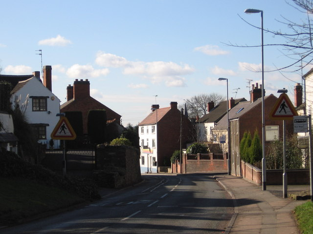 Ratby, entering from east