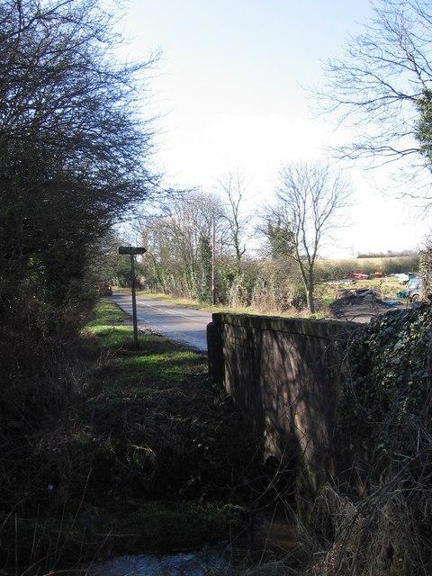 bridge over stream, Desford Lane