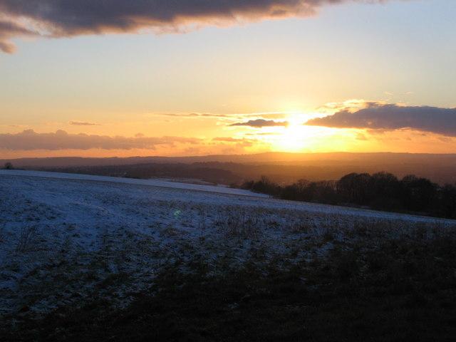 Sunset over Mendip