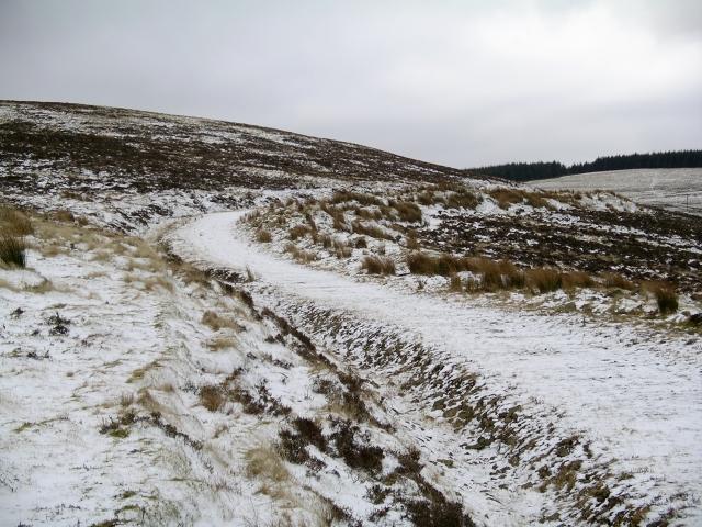 Track near Dunslair Hope