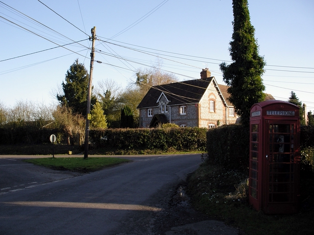 T junction in Kilmeston