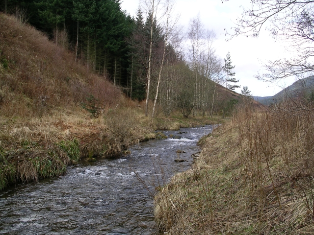 Leithen Water, near Leithen Lodge