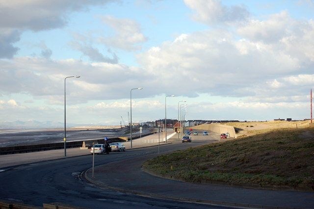 Looking North along the sea front from Little Bispham to Cleveleys