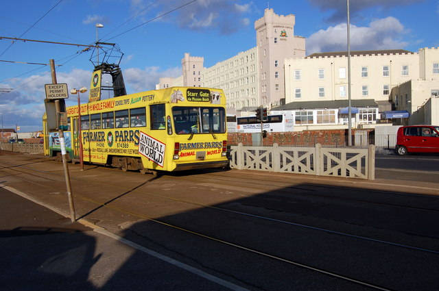 The Norbreck Hydro with a Blackpool Tram