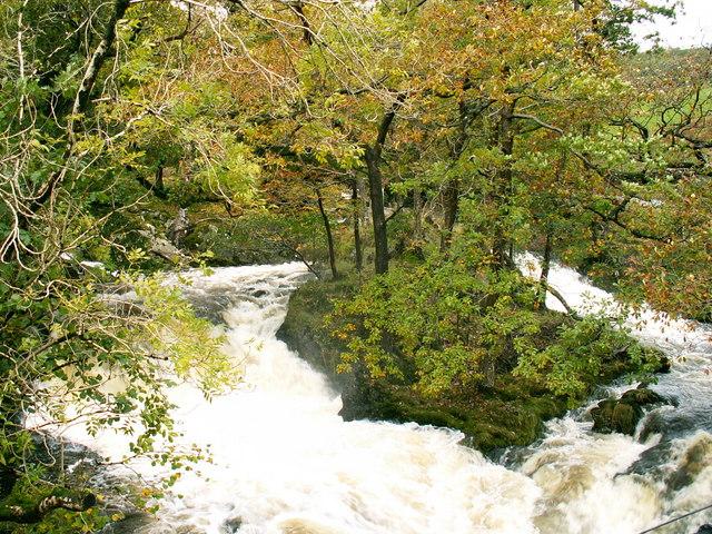 Waterfall at Ganllwyd