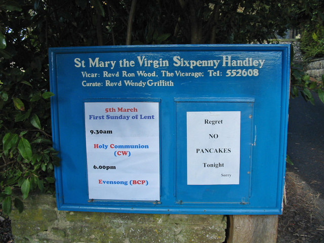 Sign in Sixpenny Handley Dorset